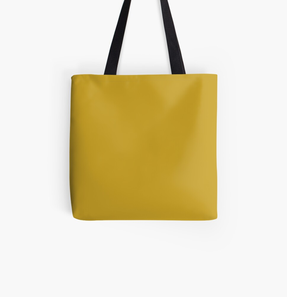 Lemon Curry 15-0751 TCX   Pantone   Color Trends   London   Fall Winter 2017   Solid Color   Fashion Colors   All Over Print Tote Bag