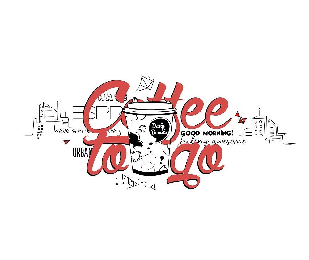 Coffee to go by Miruna Illustration