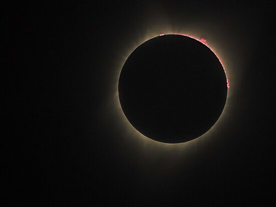 2017 Eclipse Red Prominence by Mike Herdering