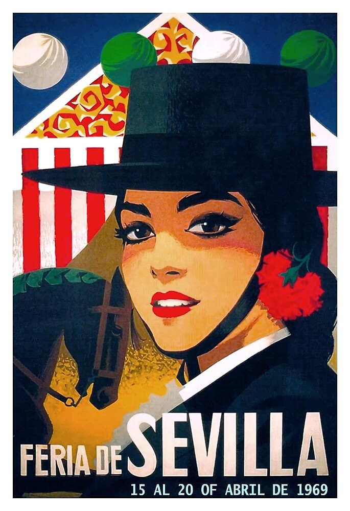 Spain 1969 Seville April Fair Poster by retrographics