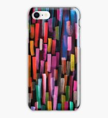 Multicolored watercolor stripes pattern iPhone Case/Skin