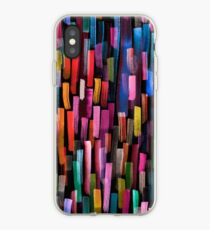 Multicolored watercolor stripes pattern iPhone Case