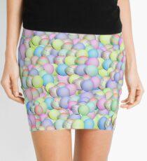 Pastel Colored Easter Eggs Mini Skirt