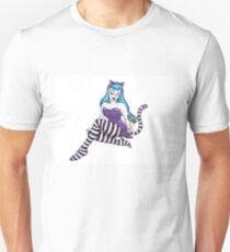 Cheshire Cat pinup girl T-Shirt