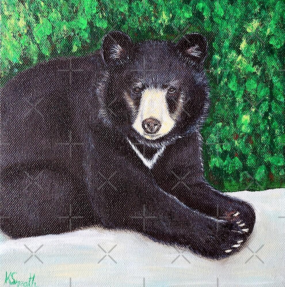 Black Bear Painting by Kirsten Sneath