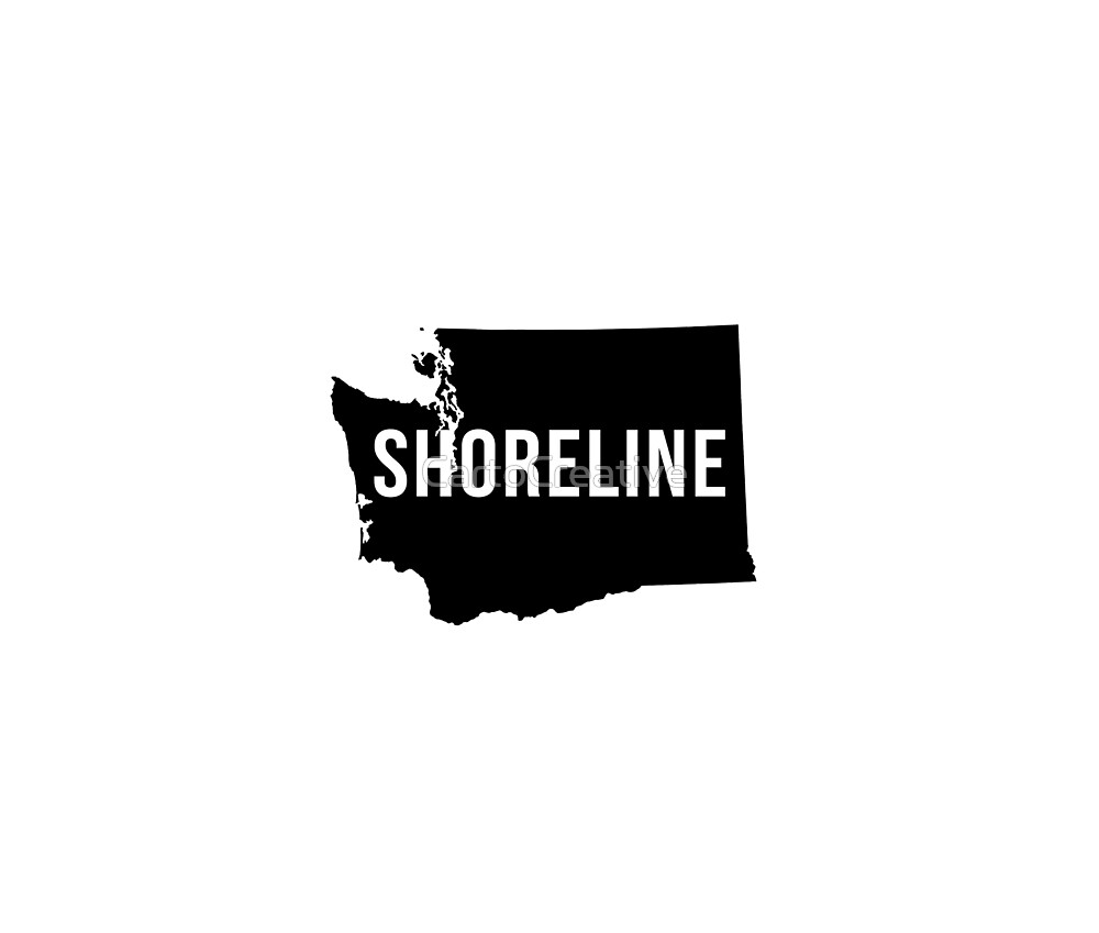Shoreline, Washington Silhouette by CartoCreative