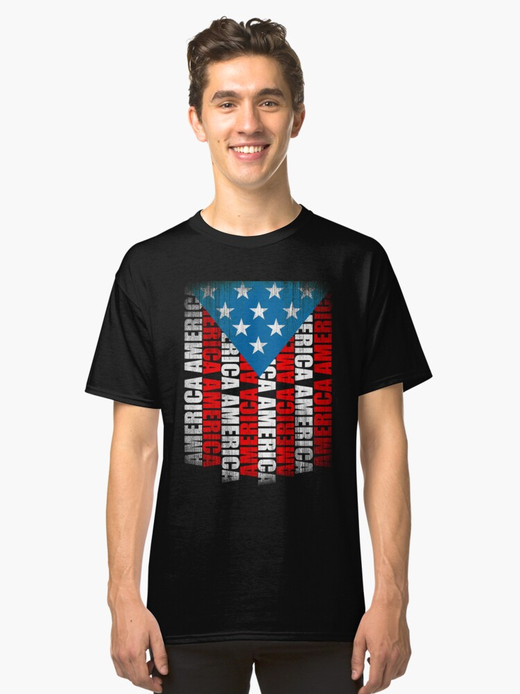 American Flag Classic T-Shirt Front