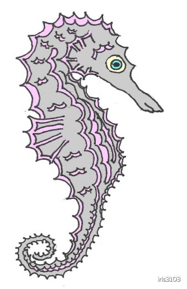 Little Grey Seahorse by iris3103