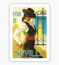 Spanien 1965 Sevilla April Fair Poster Sticker
