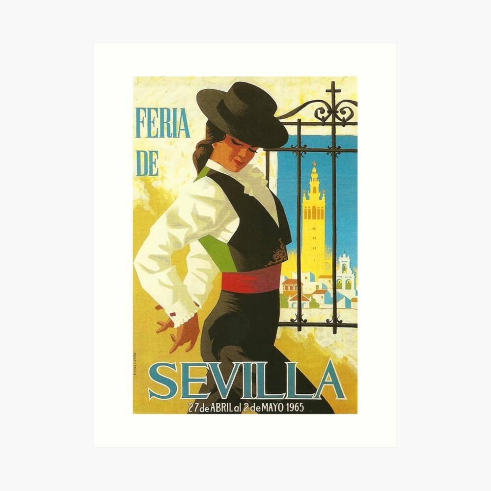 Spanien 1965 Sevilla April Fair Poster Kunstdruck