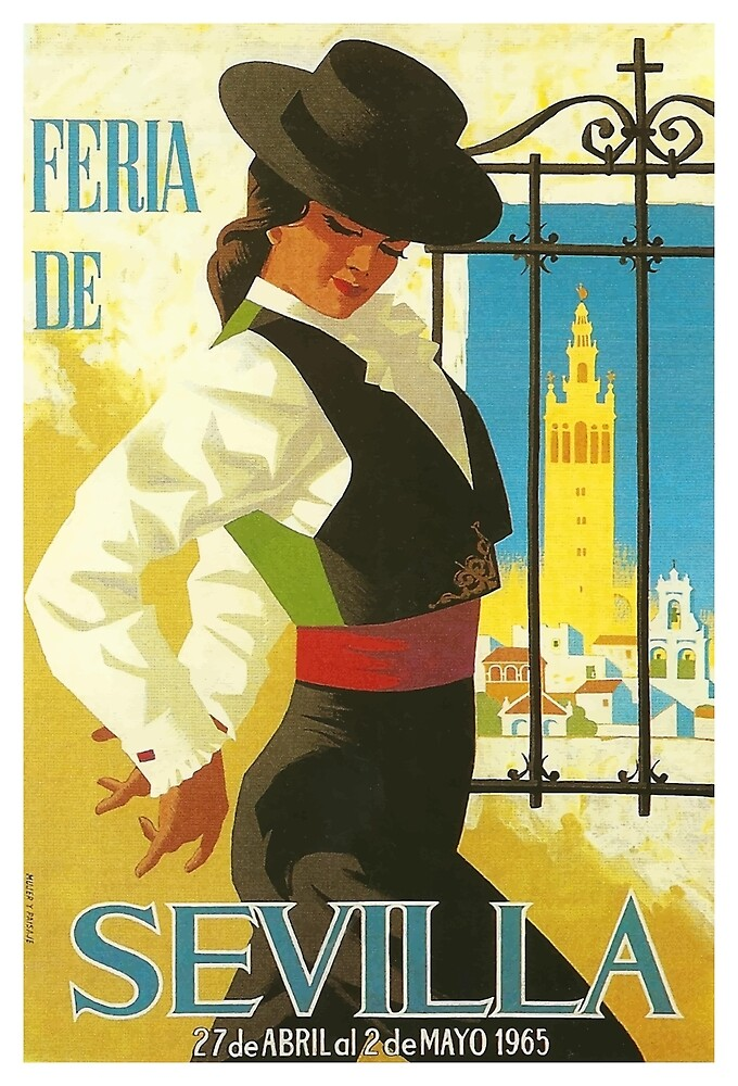 Spain 1965 Seville April Fair Poster by retrographics