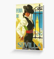 Spain 1965 Seville April Fair Poster Greeting Card