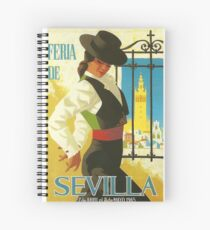 Spanien 1965 Sevilla April Fair Poster Spiralblock