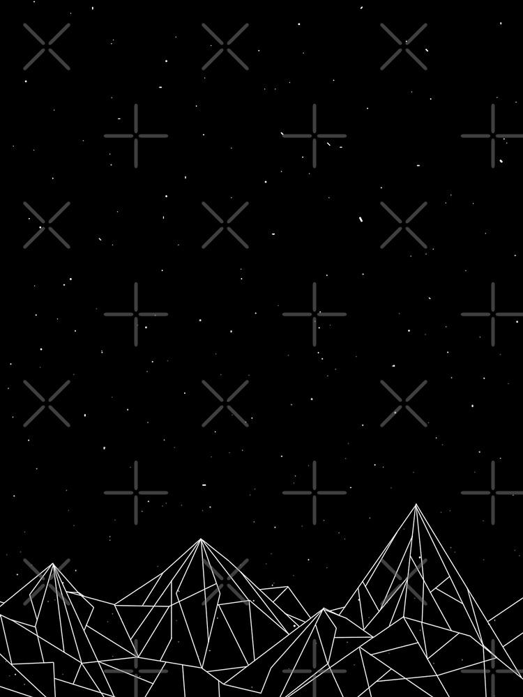 Night Court Mountains - Schwarz (ALTE VERSION) von floeing