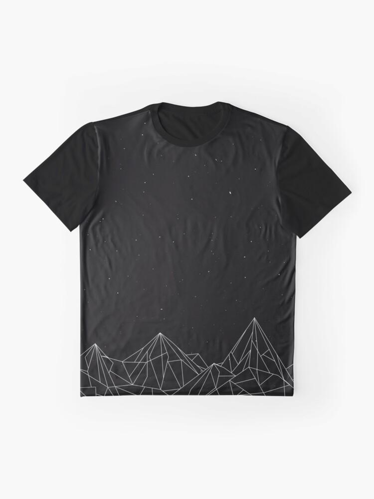 Alternative Ansicht von Night Court Mountains - Schwarz (ALTE VERSION) Grafik T-Shirt