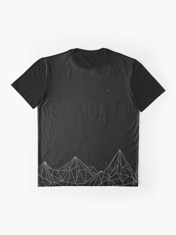 Alternate view of Night Court Mountains - Black (OLD VERSION) Graphic T-Shirt