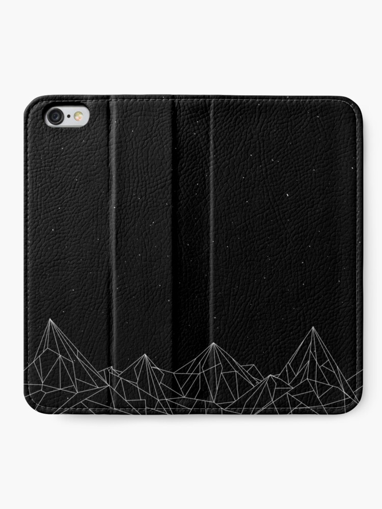 Alternate view of Night Court Mountains - Black (OLD VERSION) iPhone Wallet