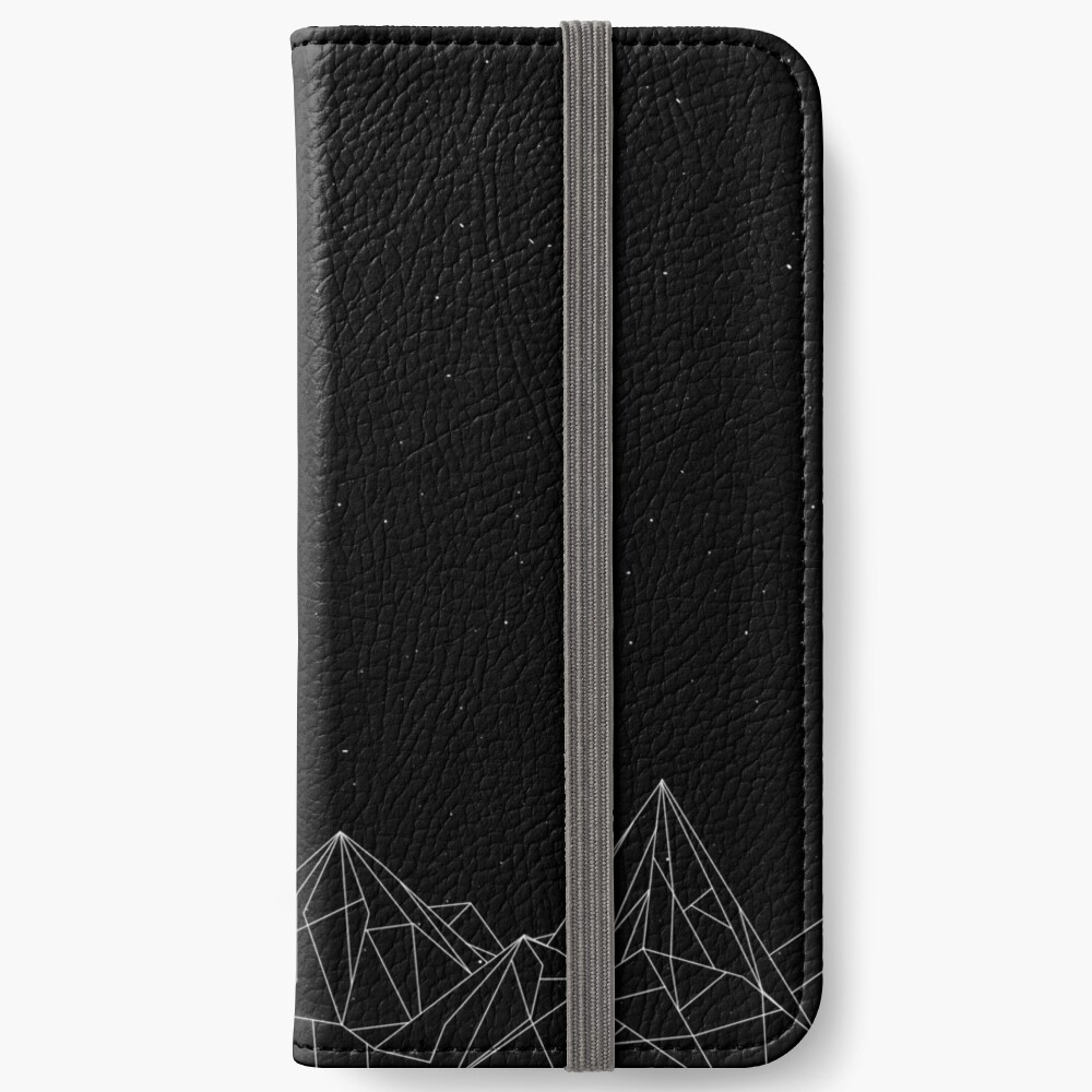 Night Court Mountains - Black (OLD VERSION) iPhone Wallet