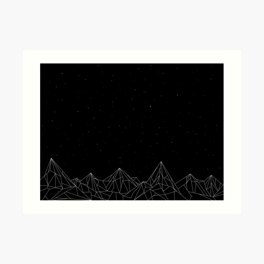Night Court Mountains - Schwarz (ALTE VERSION) Kunstdruck
