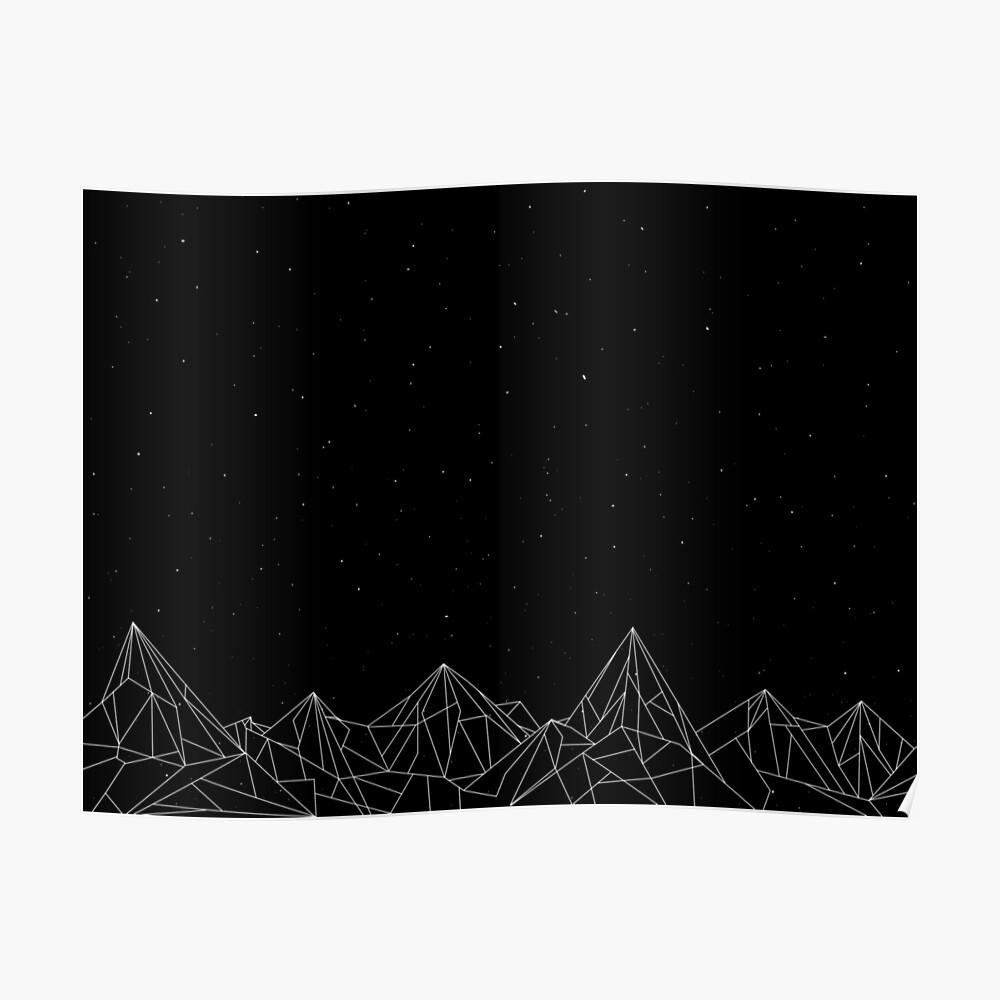 Night Court Mountains - Schwarz (ALTE VERSION) Poster