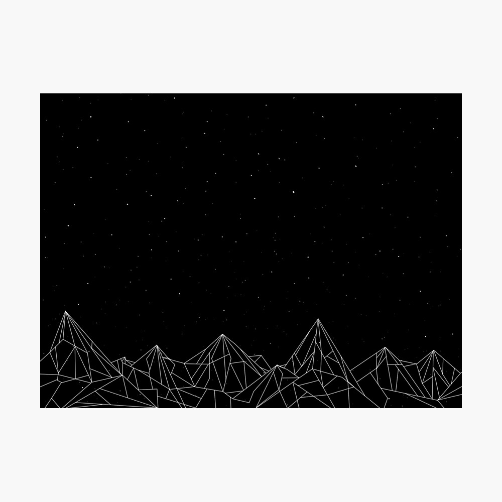 Night Court Mountains - Black (OLD VERSION) Photographic Print