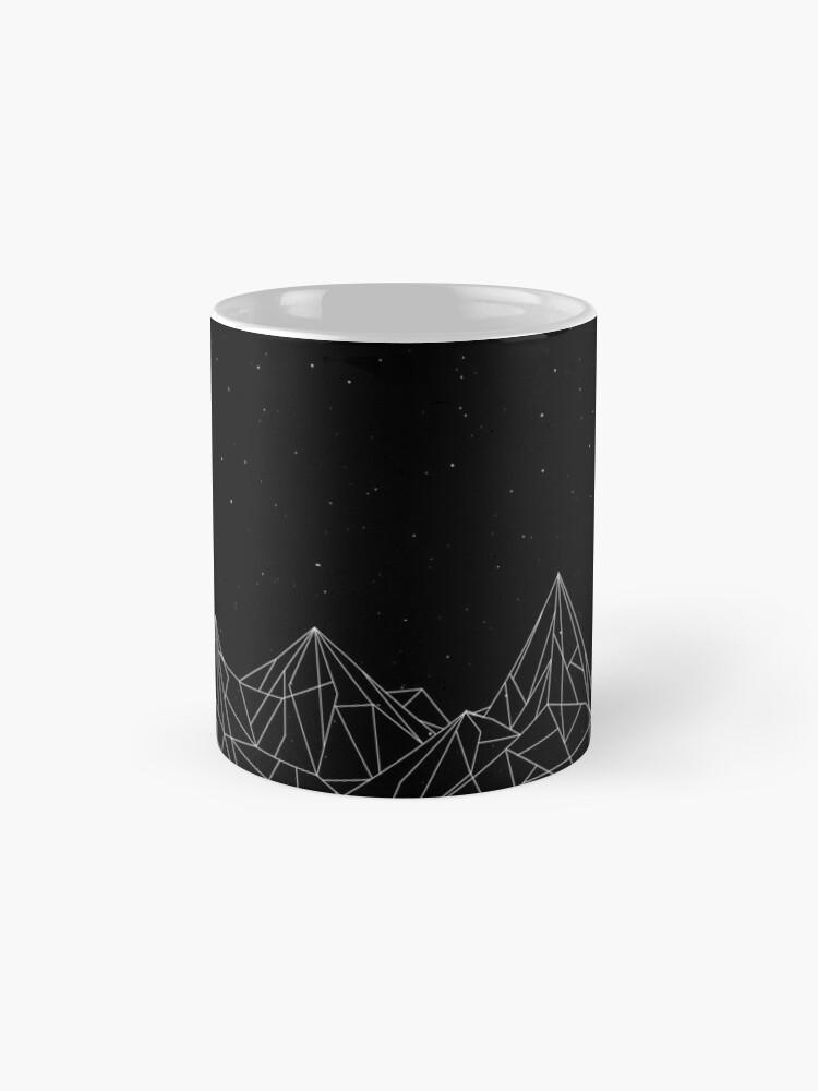 Alternate view of Night Court Mountains - Black (OLD VERSION) Mug