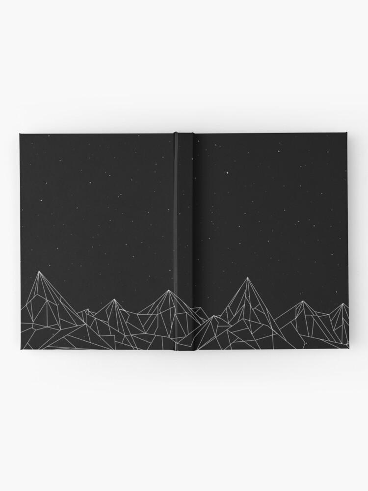 Alternative Ansicht von Night Court Mountains - Schwarz (ALTE VERSION) Notizbuch
