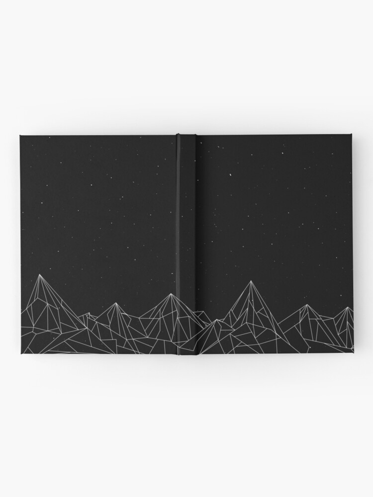 Alternate view of Night Court Mountains - Black (OLD VERSION) Hardcover Journal