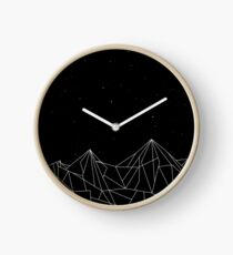 Night Court Mountains - Black (OLD VERSION) Clock