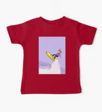 surfer jumping through the air on his surfboard Kids Clothes