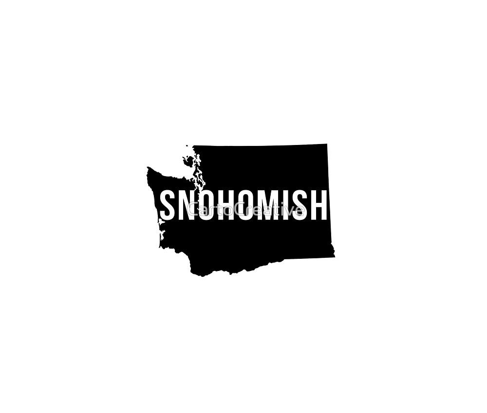 Snohomish, Washington Silhouette by CartoCreative