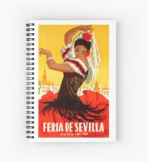 Spain 1959 Seville April Fair Poster Spiral Notebook