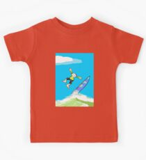 Surfer loses balance and takes a leap Kids Clothes