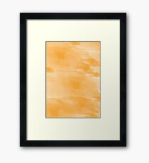 Yellow Watercolor  Framed Print