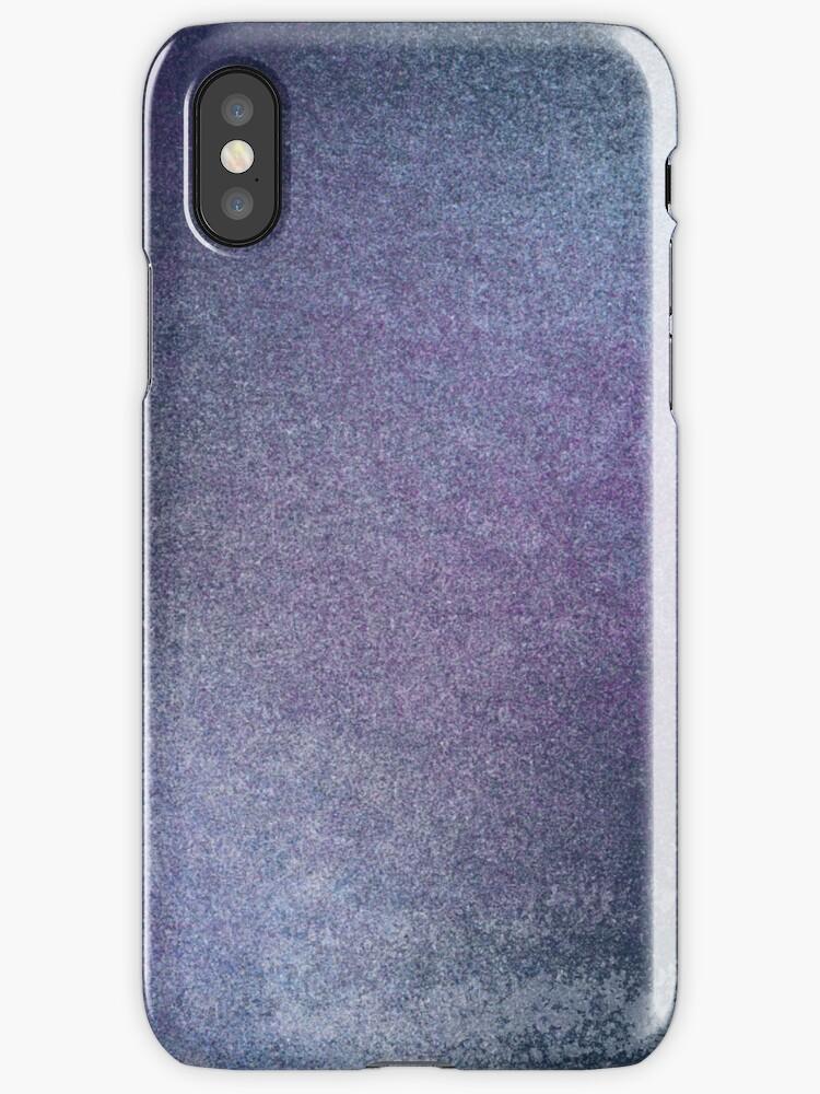 Pixel Art Watercolor Blue Purple Painting by PineLemon