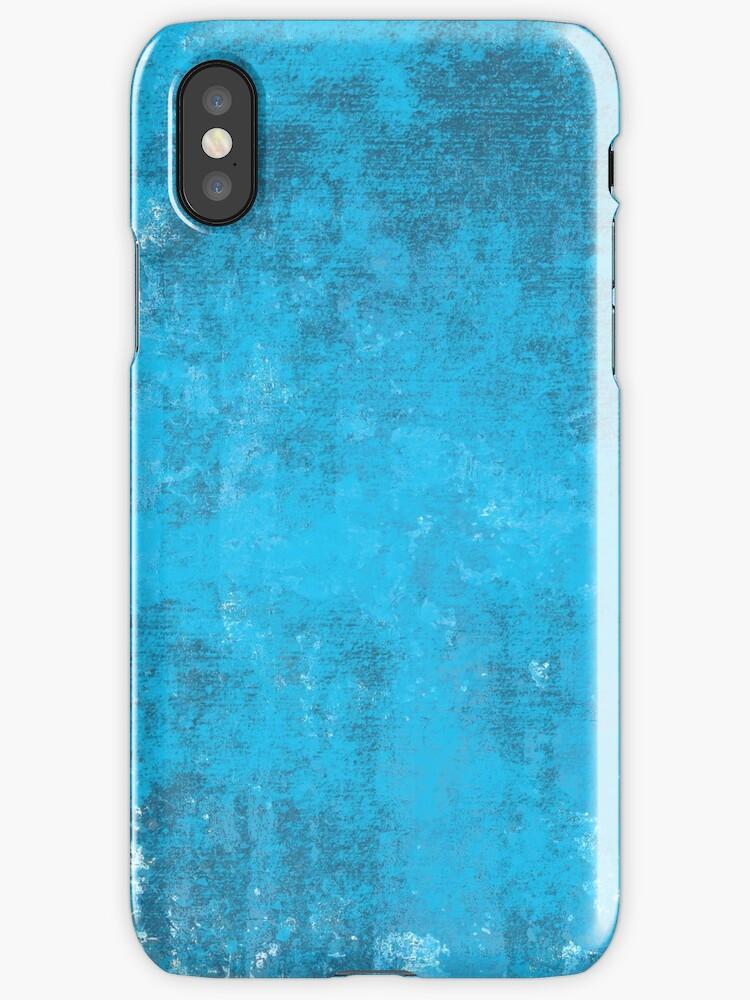 Pixel Art Watercolor Blue Painting by PineLemon
