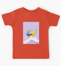 Surfer with attitude of success Kids Clothes