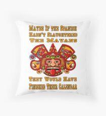 Funny Mayan Calendar Throw Pillow