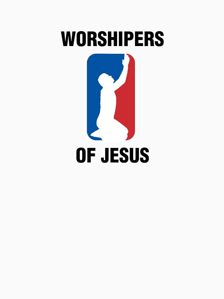 Worshipers of Jesus t-shirt god faith by rasantos