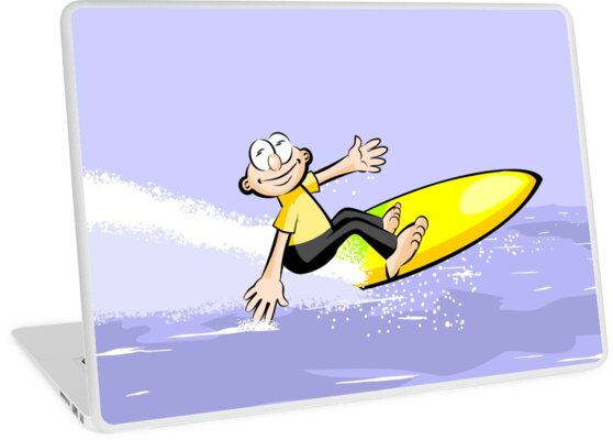 High-speed surfer with his surfboard by MegaSitioDesign