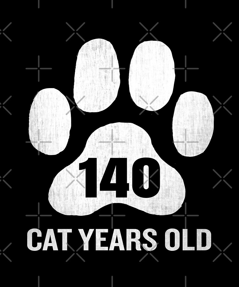 140 Cat Years Old Funny 35th Birthday Gag Gift Paw by SpecialtyGifts