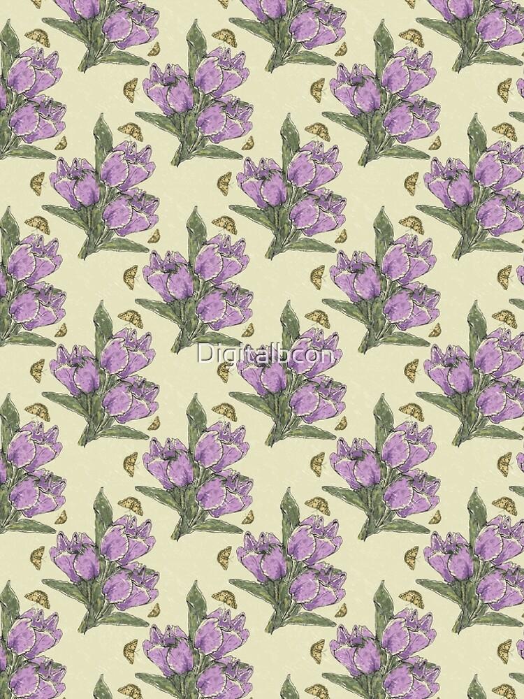 Retro Spring Crocus Refrain by Digitalbcon