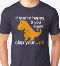 T-Rex clap your hands Unisex T-Shirt