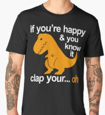 T-Rex clap your hands Men's Premium T-Shirt