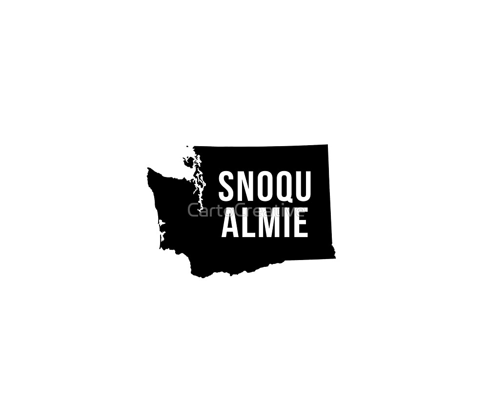 Snoqualmie, Washington Silhouette by CartoCreative