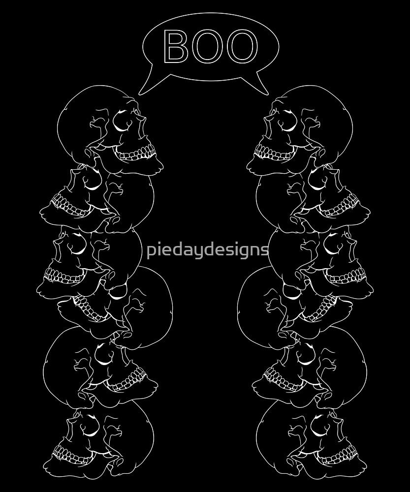 Human Skulls Boo by piedaydesigns