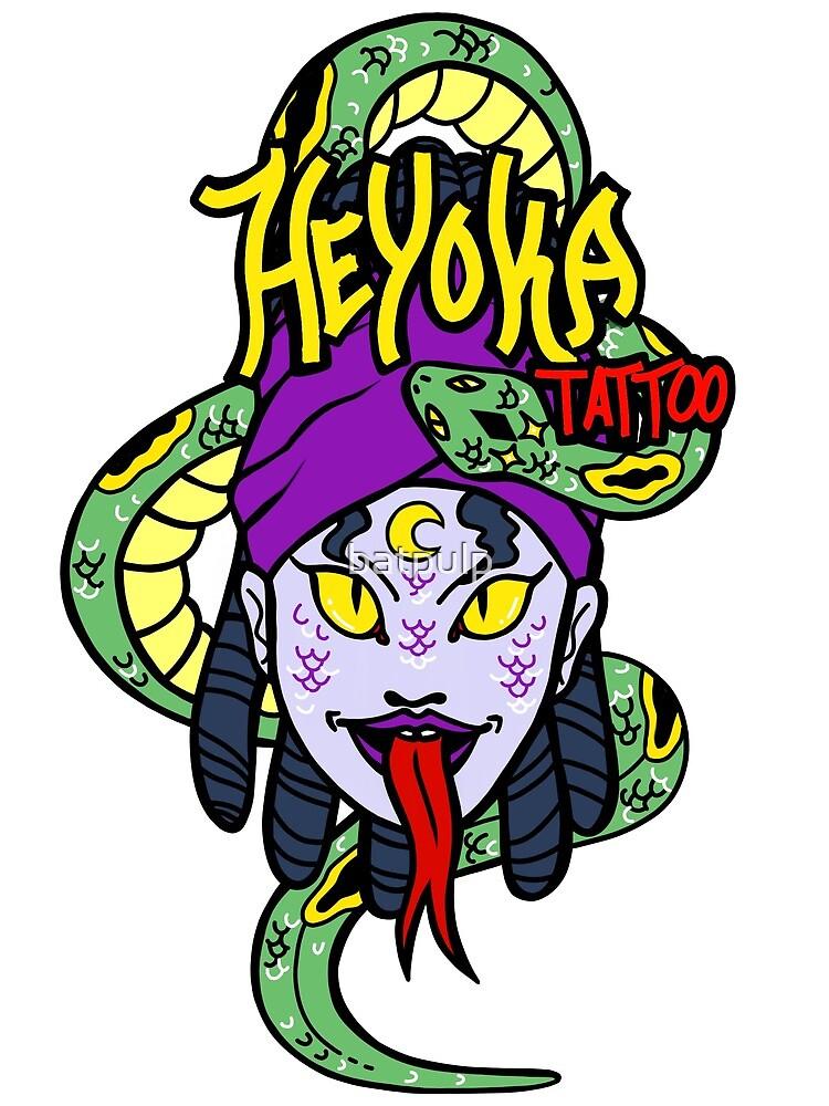 Heyoka Tattoo Serpent Witch by batpulp
