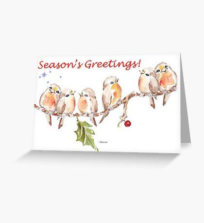 6 Little Birds - Season's Greetings! Greeting Card