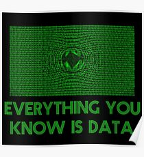 Computer Matrix Data Science Shirt Poster