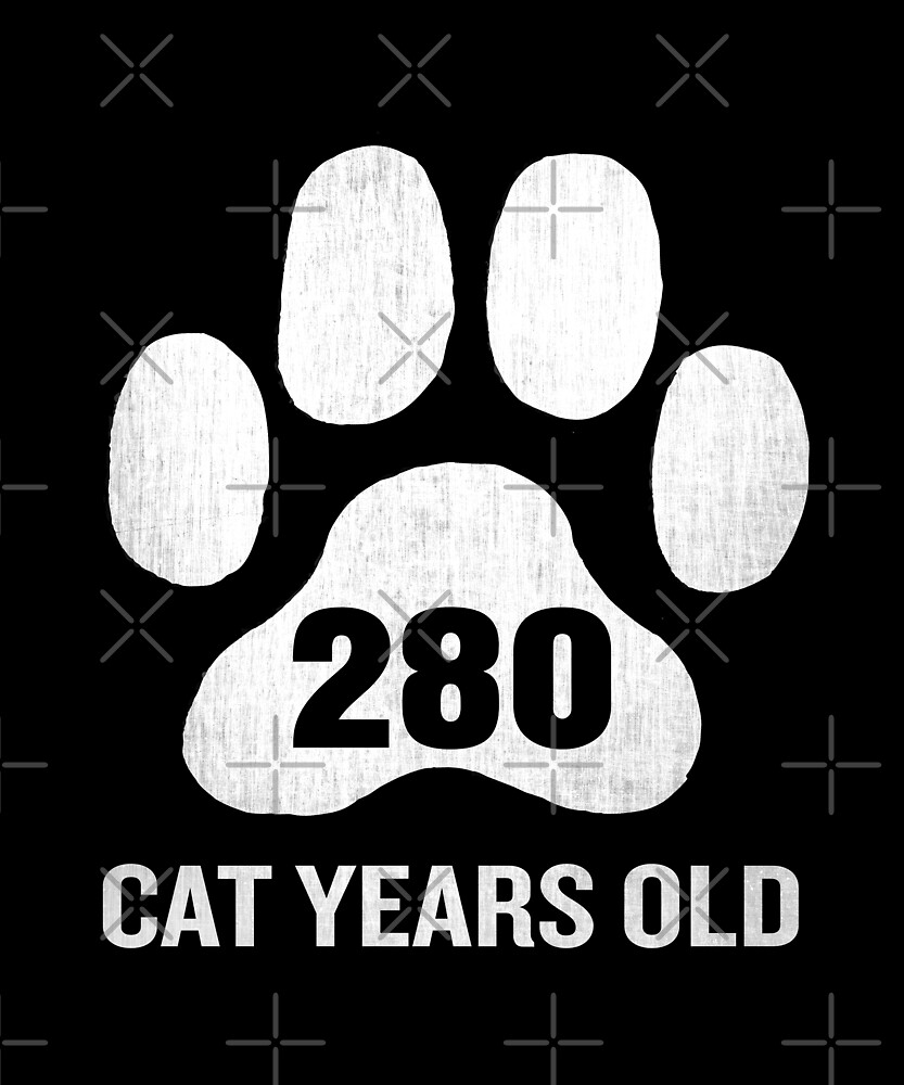 280 Cat Years Old Funny 70th Retired Birthday Gift by SpecialtyGifts